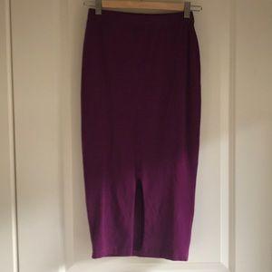 Sexy fuscia pencil skirt